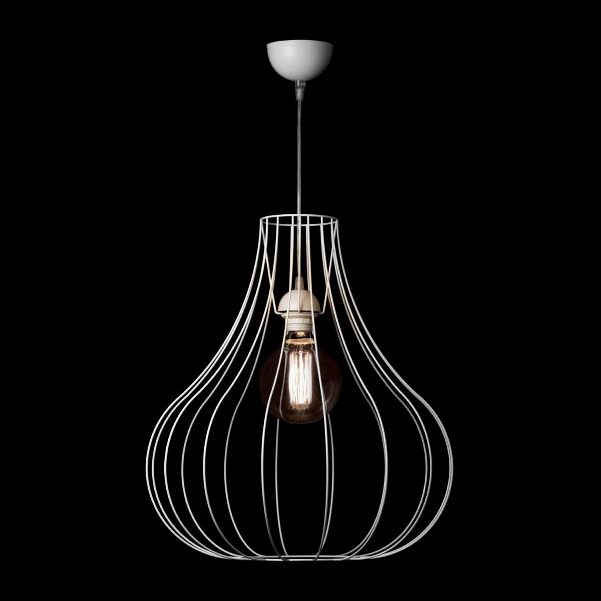 Design Leuchte Scandi Hängelampe Metall Hängeleuchte Lampe Wohnzimmer Weiß von Design Lampe Wohnzimmer Photo