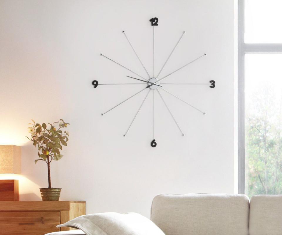 Design Uhr Like Umbrella Chrom Kare Designer Wanduhren von Moderne Wanduhren Wohnzimmer Bild