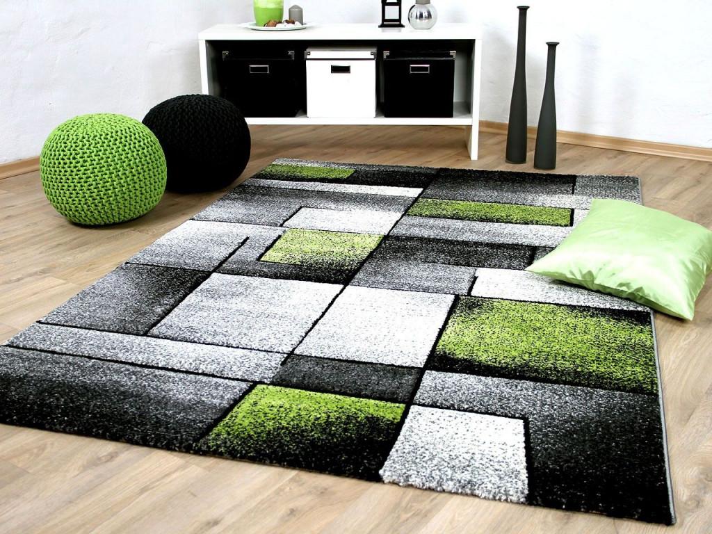 Designer Teppich Brilliant Grau Grün Fantasy  Beautiful von Grüner Teppich Wohnzimmer Bild