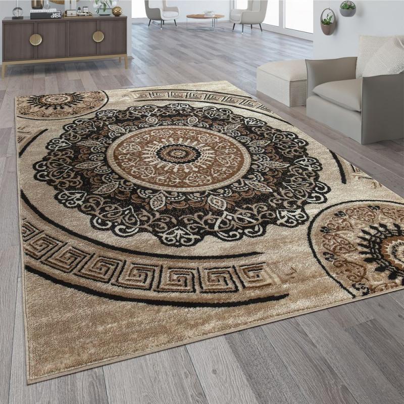 Designer Teppich Mandala Motiv Braun  Mirai Trading Gmbh von Bilder Motive Wohnzimmer Bild