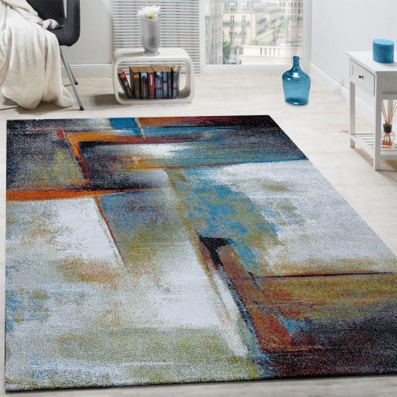 Designer Teppich Modern Kurzflor Wohnzimmer Bunt Trendig von Wohnzimmer Teppich 160X230 Photo
