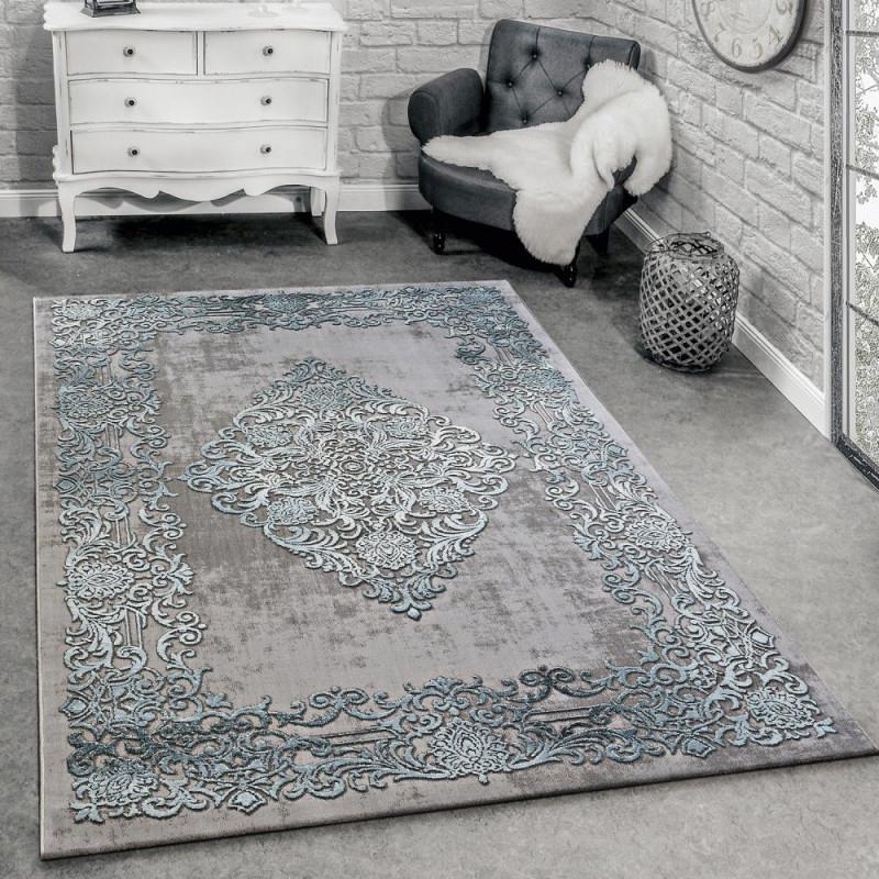 Designer Teppich Modern Wohnzimmer Teppiche 3D Barock Muster von Grosser Teppich Wohnzimmer Bild