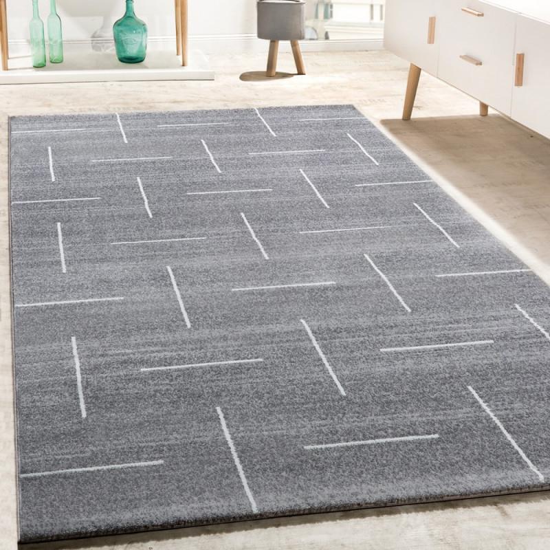Designer Teppich Wohnzimmer Modernes Design In Grau Weiß Meliert  Grösse200X290 Cm von Teppich Wohnzimmer Grau Photo