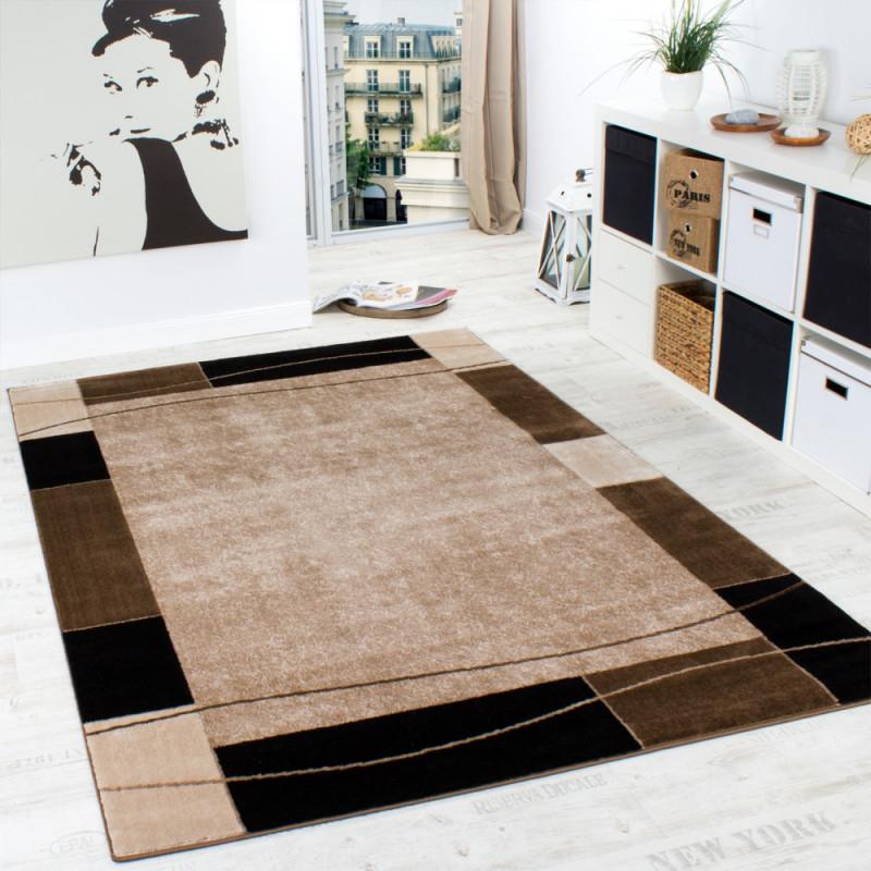 Designerteppich Bordüre Braun von Teppich Wohnzimmer Braun Photo