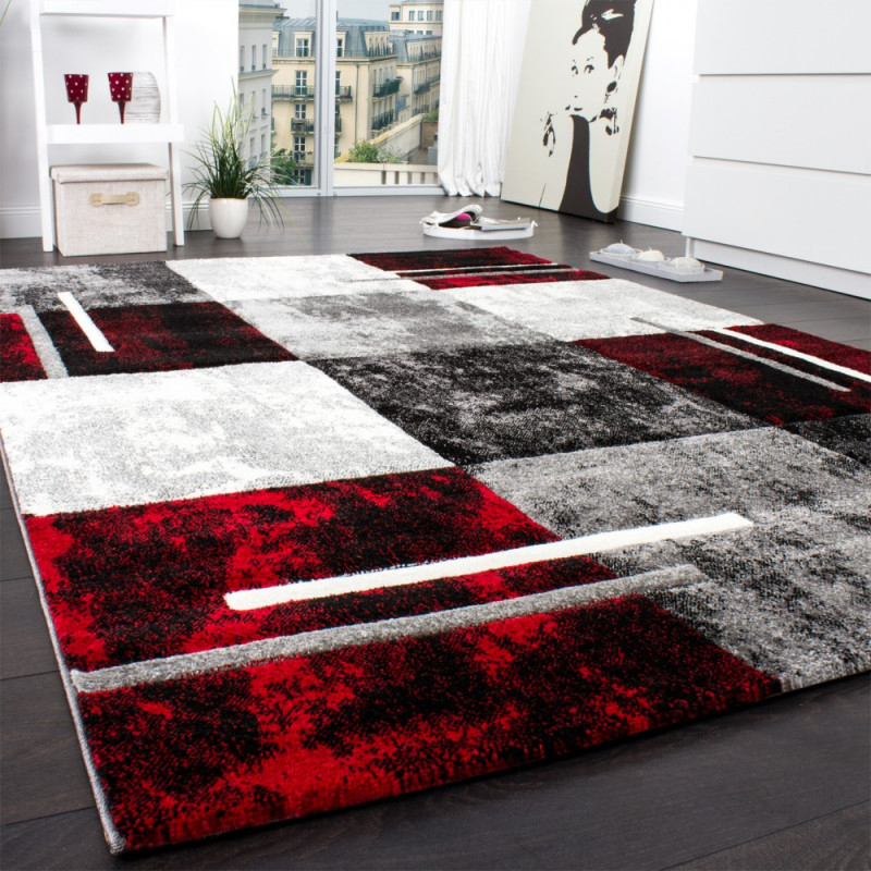 Designteppich Wohnzimmer Karomuster von Roter Teppich Wohnzimmer Bild