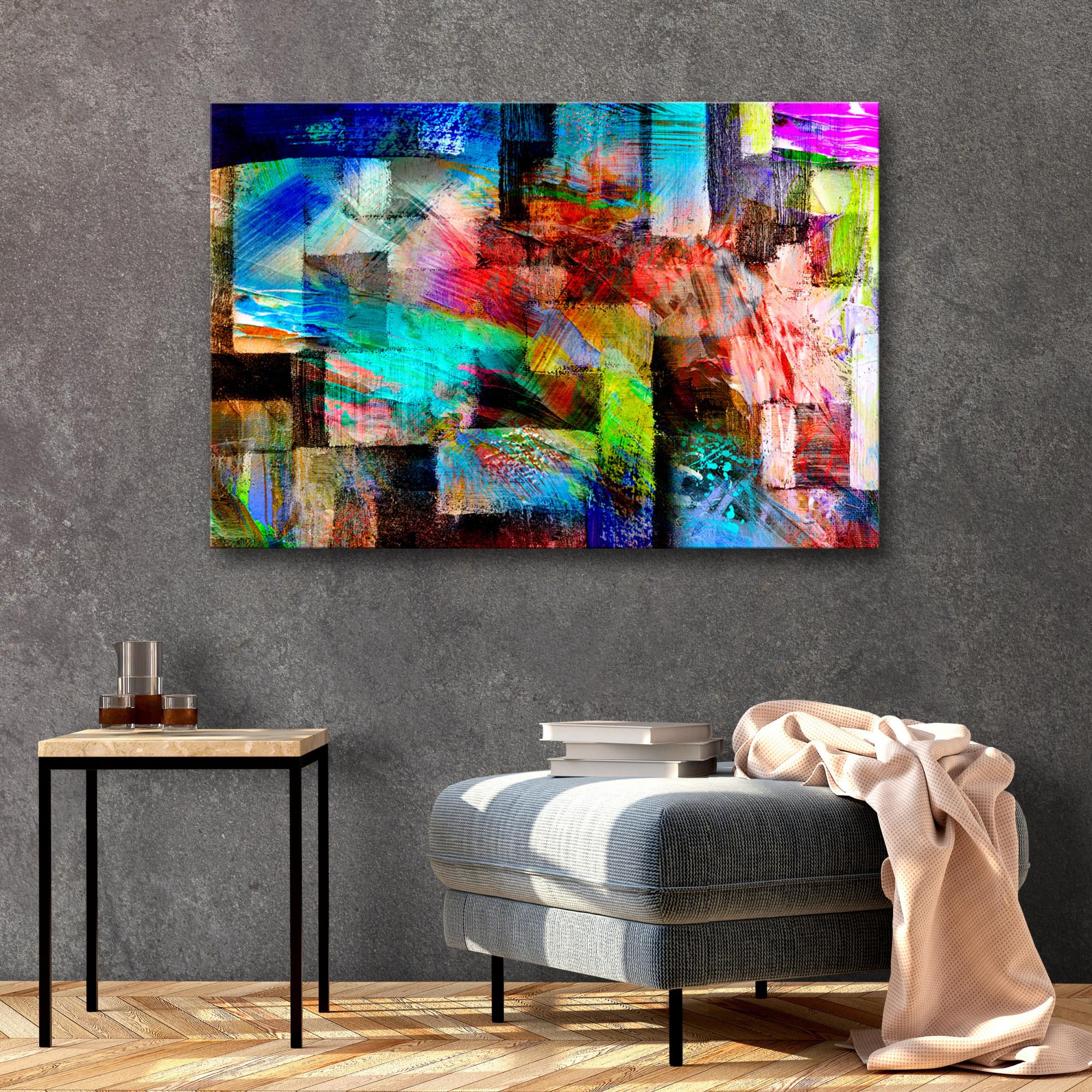 Details Zu Abstrakt Leinwand Deko Bild Xxl Wand Bilder Bunt Kunstdruck  Wohnzimmer 3 Motiven von Wohnzimmer Bilder Abstrakt Bild