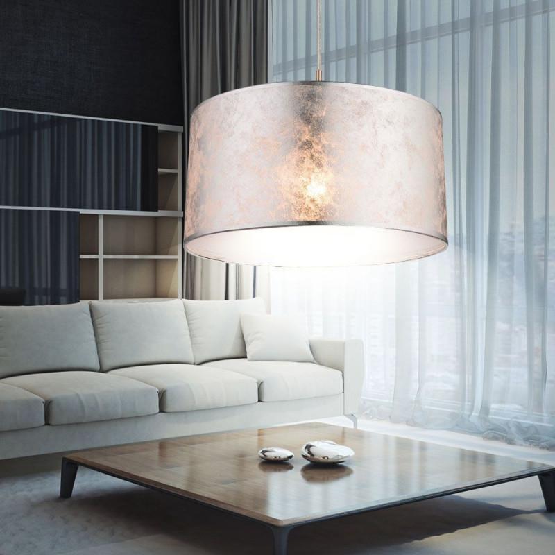 Details Zu Design Led Decken Pendel Hänge Lampe Leuchte von Wohnzimmer Lampe Silber Bild