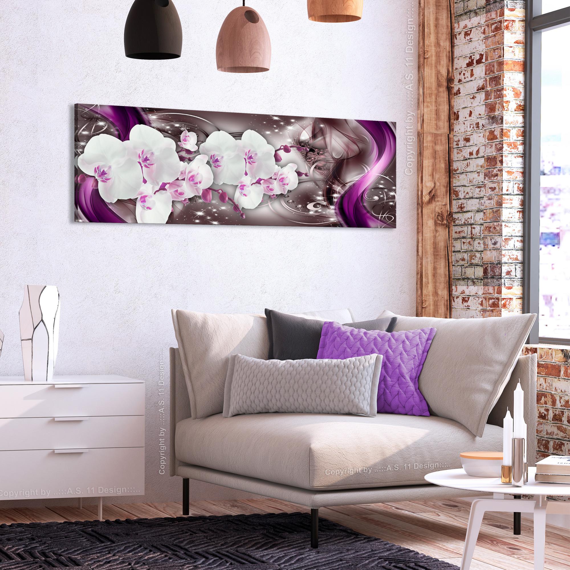 Details Zu Leinwand Bilder Blumen Orchidee Abstrakt Nachtleuchte Wandbilder  Xxl Wohnzimmer von Wohnzimmer Bilder Xxl Photo