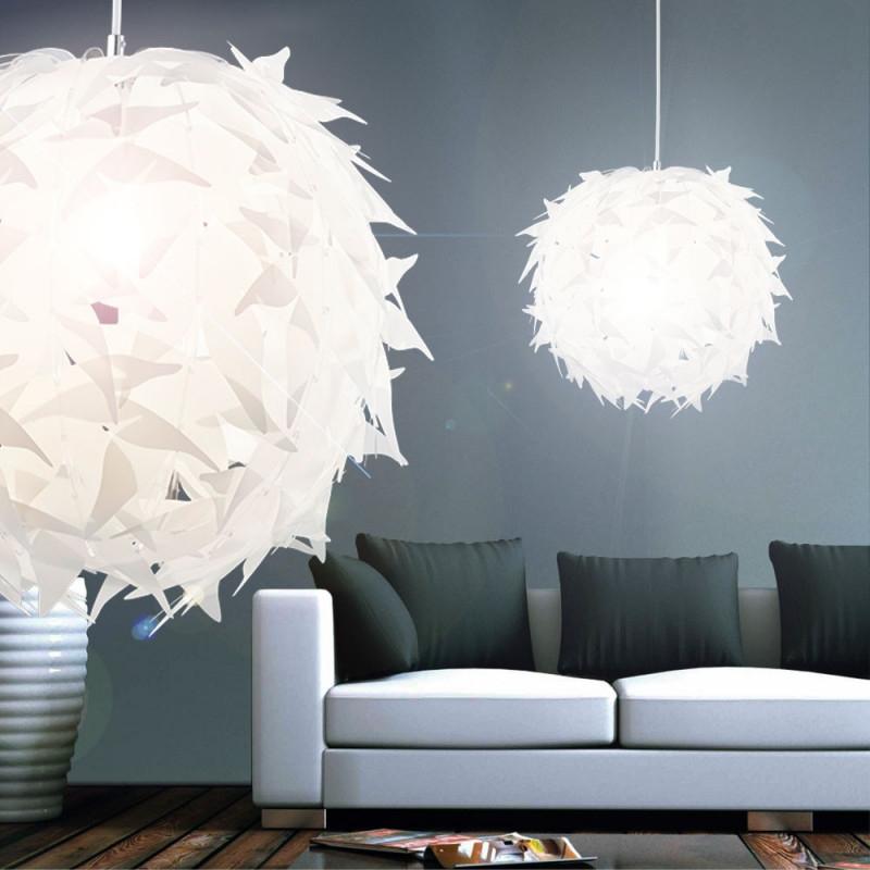 Details Zu Pendel Leuchte Esszimmer Beleuchtung Rund Hänge Lampe Acryl Weiß  Pendellampe von Wohnzimmer Lampe Weiß Bild