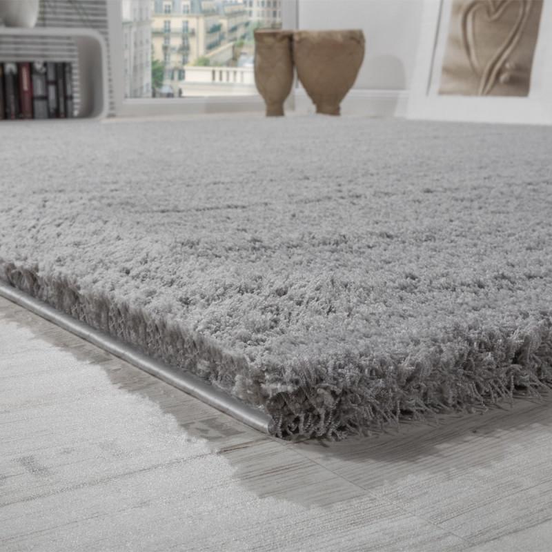 Details Zu Shaggy Teppich Micro Polyester Wohnzimmer Teppiche Elegant  Hochflor Grau von Teppich Grau Wohnzimmer Photo