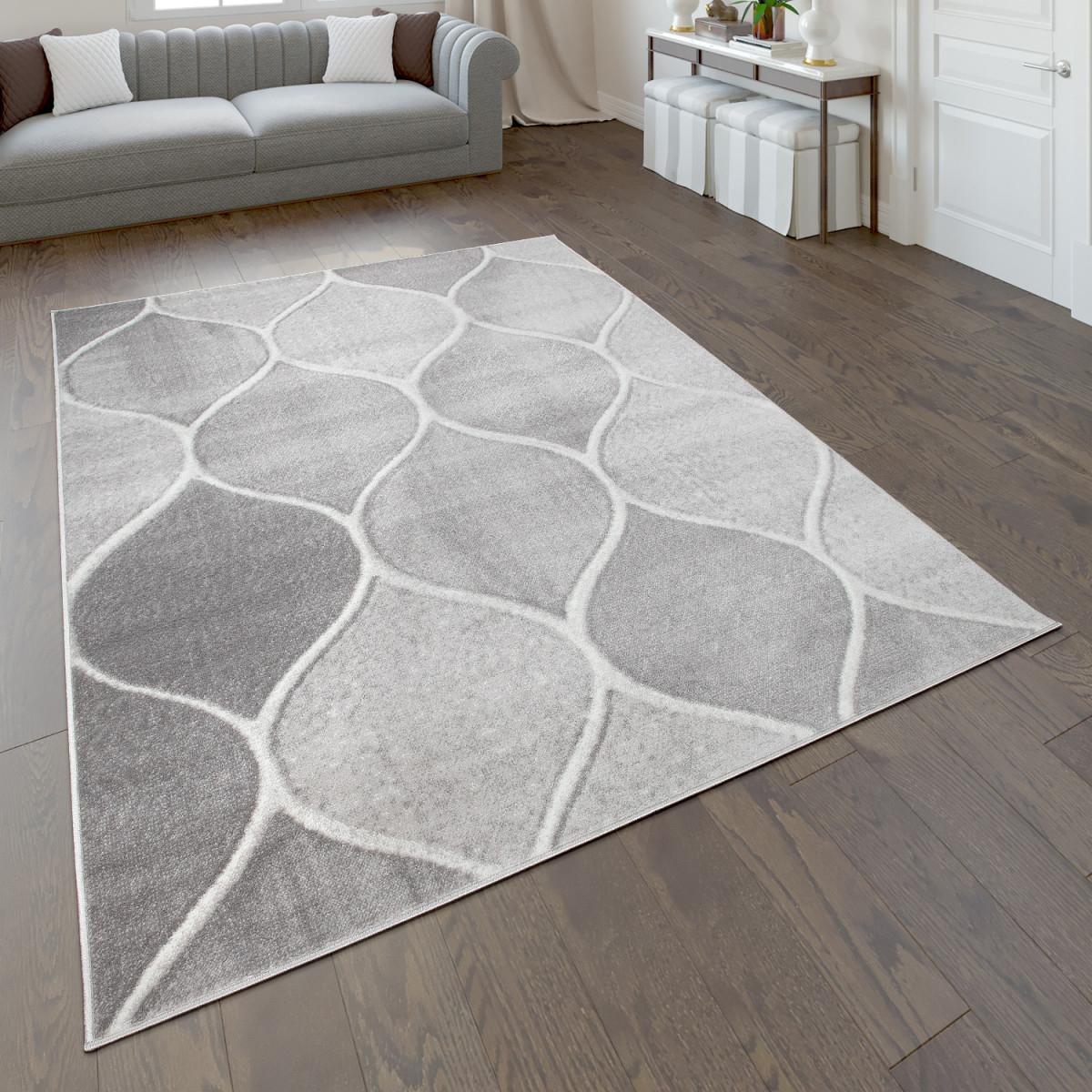 Details Zu Teppich Kurzflorteppich Für Wohnzimmer Mit Orientdesign  Einfarbig In Grau von Teppich Wohnzimmer Grau Photo