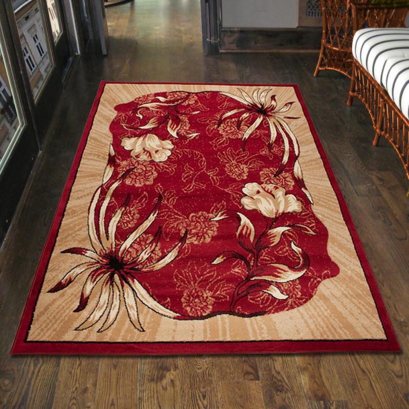 Details Zu Teppich Wohnzimmer Klassisch Blumen Rot Design Läufer Xxl  200X300 300X400 Mehr von Wohnzimmer Teppich 300X400 Bild