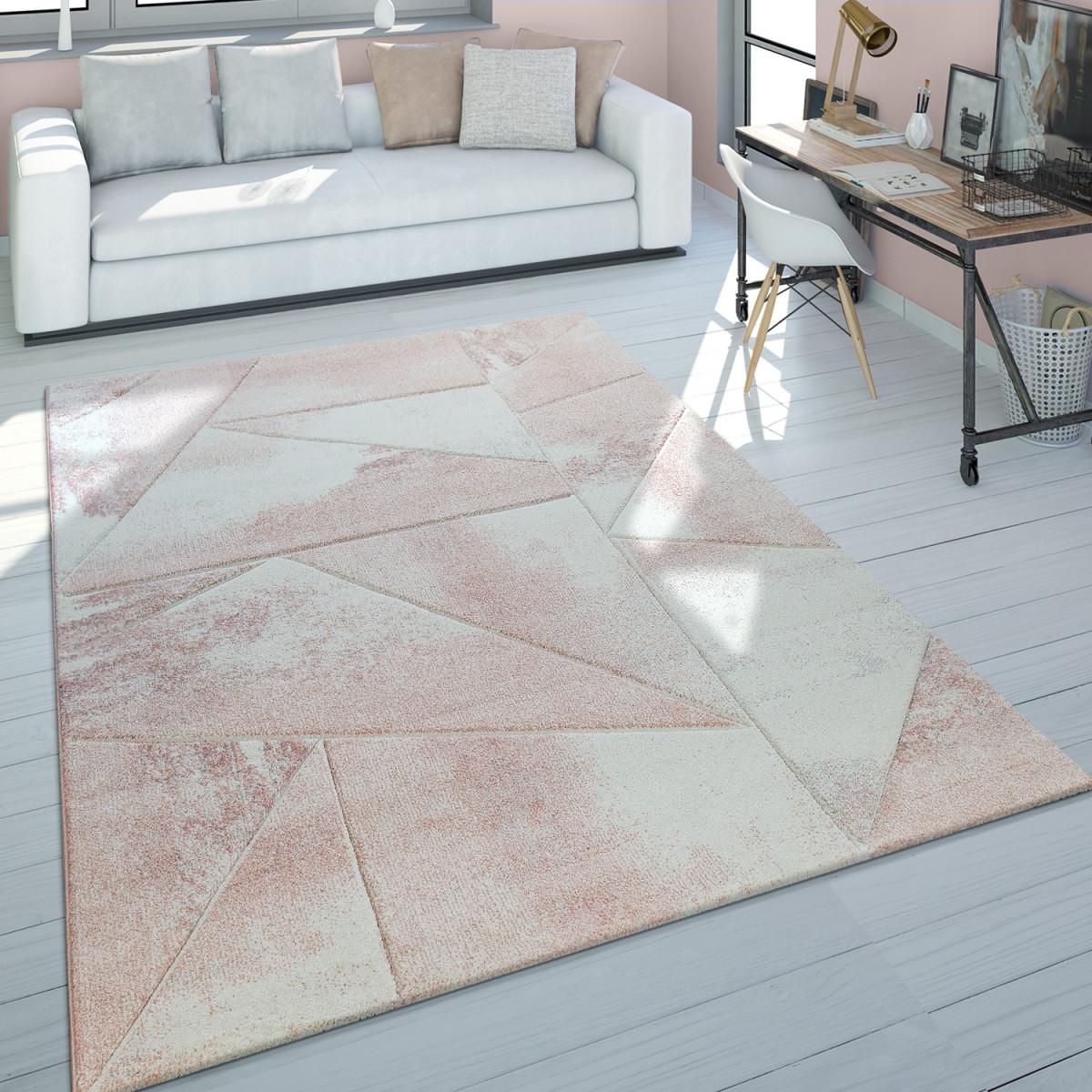 Details Zu Teppich Wohnzimmer Rosa Kurzflor Pastellfarben Marmor Design  Meliert 3D Muster von Wohnzimmer Teppich Rosa Bild