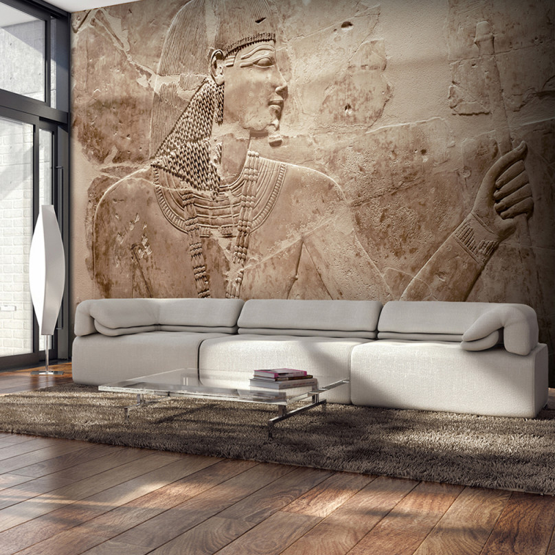 Details Zu Vlies Fototapete Steinwand Stein Ägypten 3D Tapete Wandbilder  Xxl Wohnzimmer von Bilder Xxl Wohnzimmer Bild