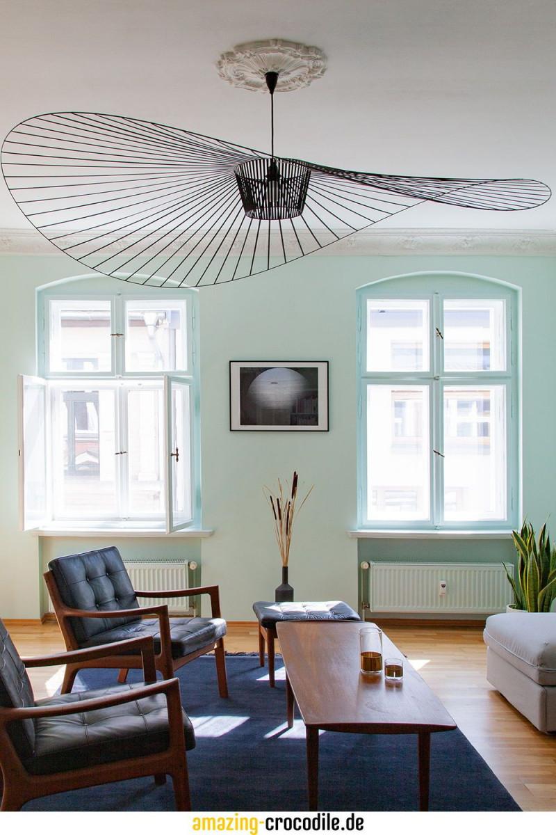 Die Deckenleuchte Vertigo Von Petite Friture Setzt Hier Mit von Wohnzimmer Lampe Groß Bild
