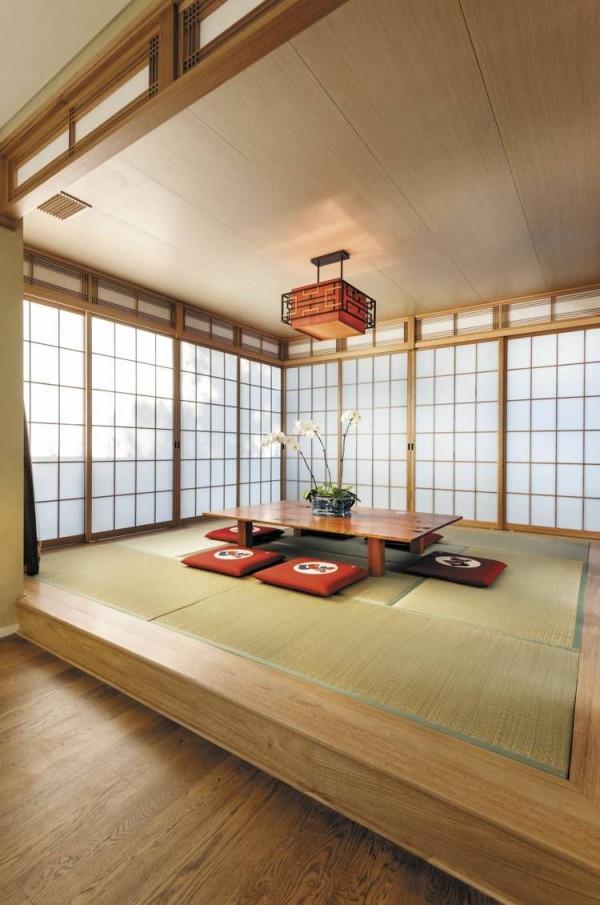Die Japanischen Matten In Den Boden Einlassen  Wohnen von Wohnzimmer Japanisch Einrichten Photo