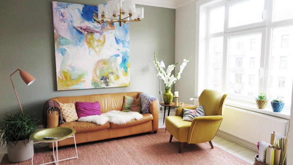 Die Schönsten Ideen Für Die Wandfarbe Im Wohnzimmer von Wohnzimmer Wände Gestalten Farbe Bild