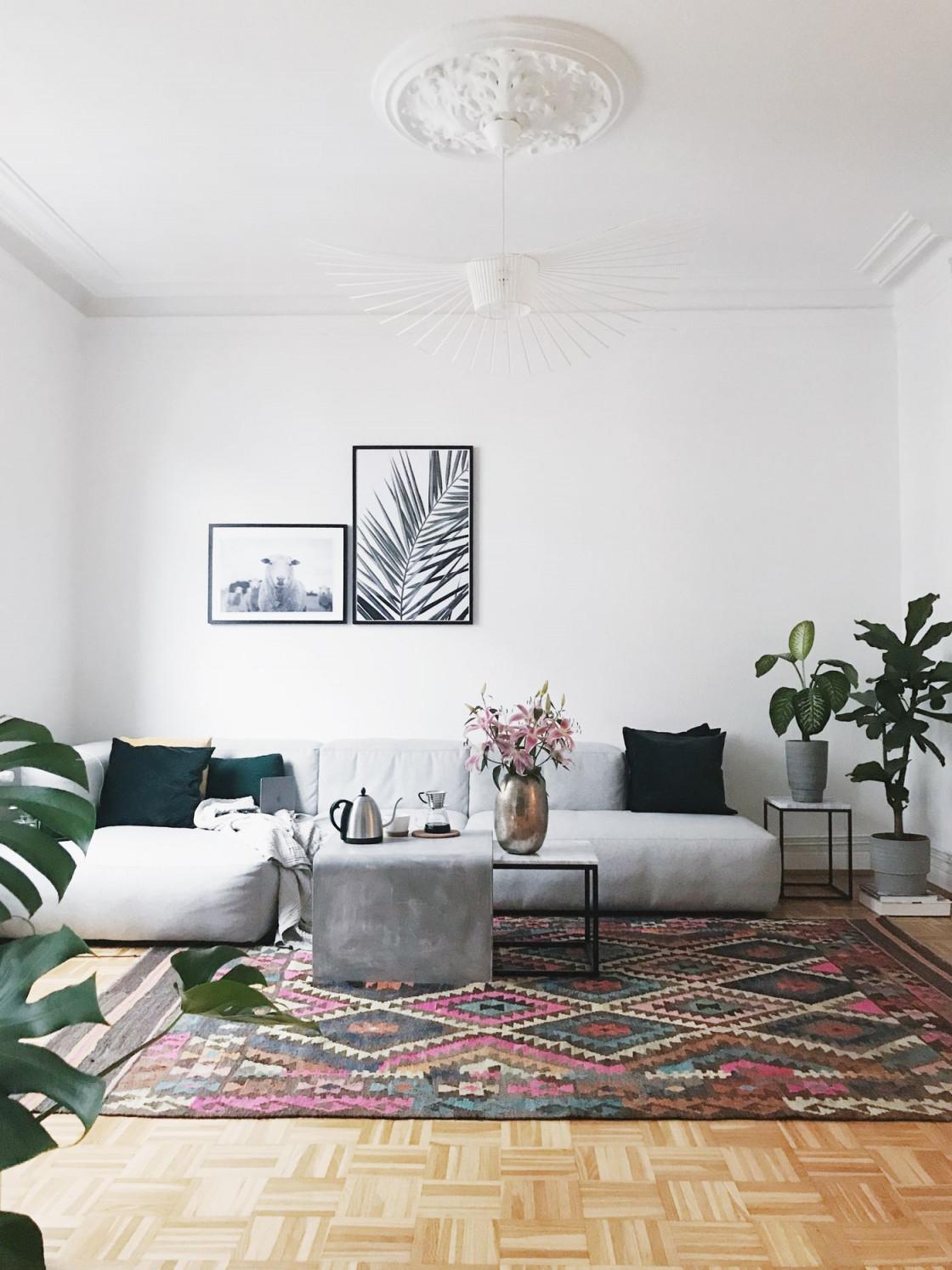 Die Schönsten Wohnzimmer Deko Ideen von Wohnzimmer Blumen Deko Bild