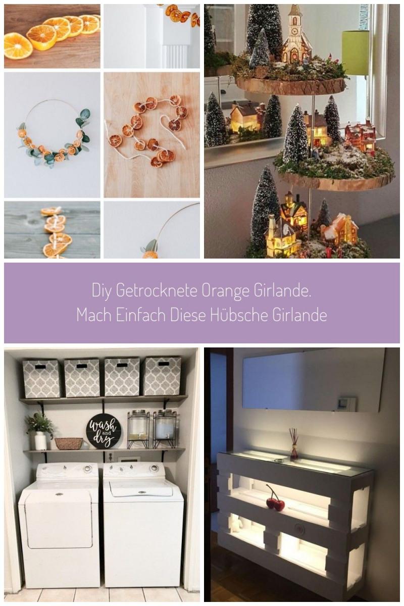 Diy Getrocknete Orange Girlande Mach Einfach Diese Hübsche von Deko Girlande Wohnzimmer Photo