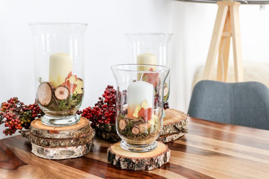 Diy Herbstliche Kerzen Als Deko Fürs Wohnzimmer Mit von Kerzen Deko Wohnzimmer Bild