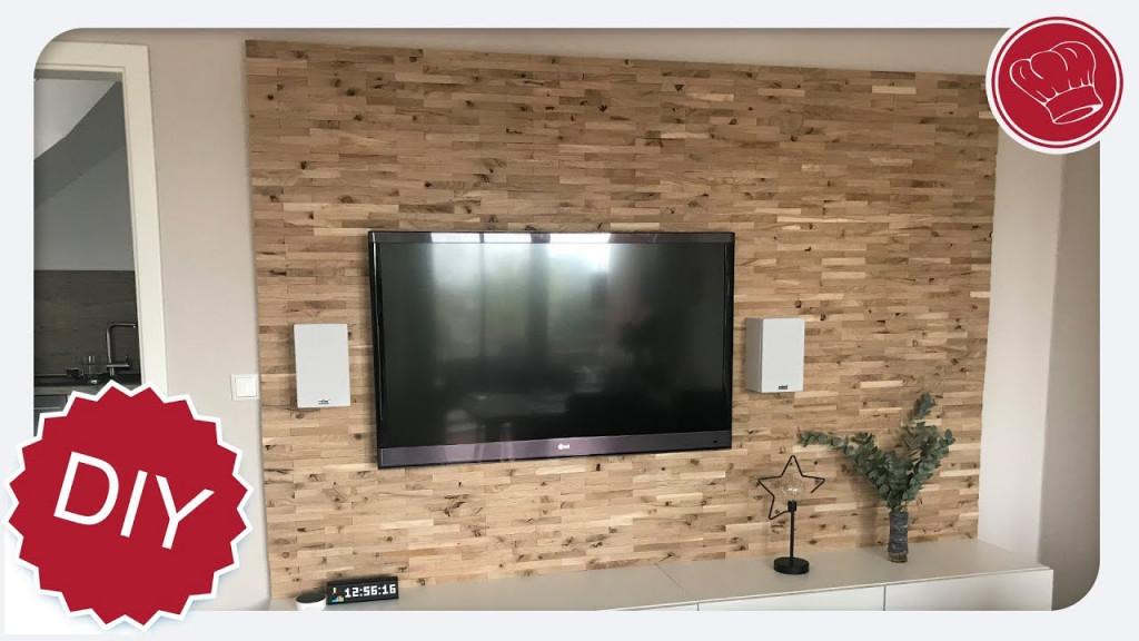 Diy Holz Wohnwand Selber Machen  Elegantkochen von Wohnzimmer Fernsehwand Ideen Bild