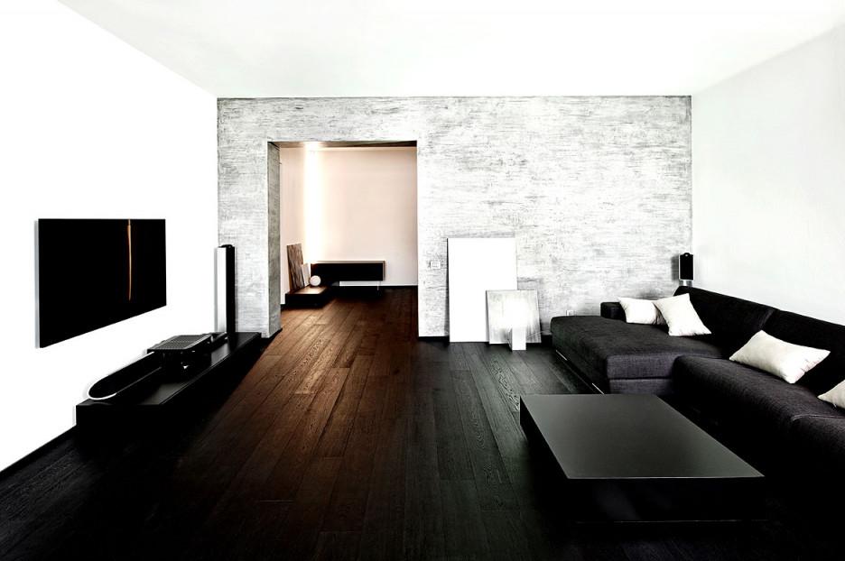 Dunkle Möbel In Einem Hellen Wohnzimmer Wirken Extrem Modern von Wohnzimmer Ideen Dunkle Möbel Photo