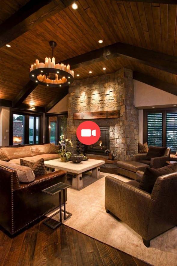 ⭐️ Werfen Sie Einen Blick In Dieses Beeindruckende Modern von Wohnzimmer Ideen Rustikal Bild