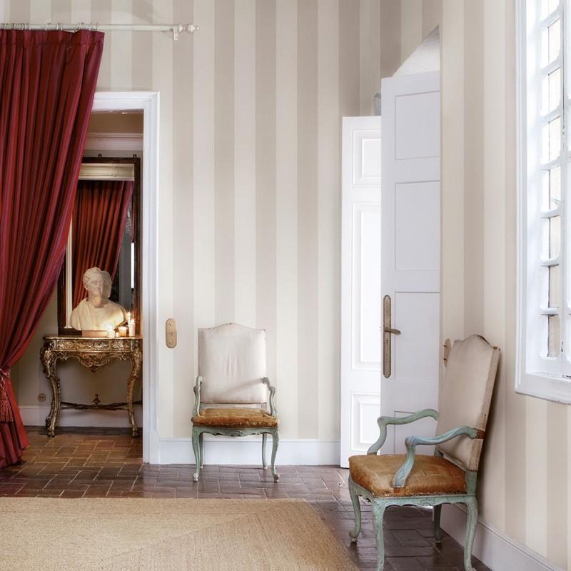 Edle Streifentapete In Hellbeige Bellefond Von Coordonné von Streifen Tapeten Wohnzimmer Photo