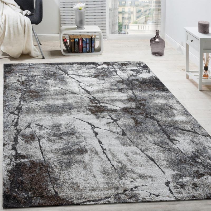Edler Designer Teppich Wohnzimmer Abstrakt 3D Usedstyle Naturtöne Grau  Grösse160X230 Cm von Teppich Wohnzimmer Größe Photo