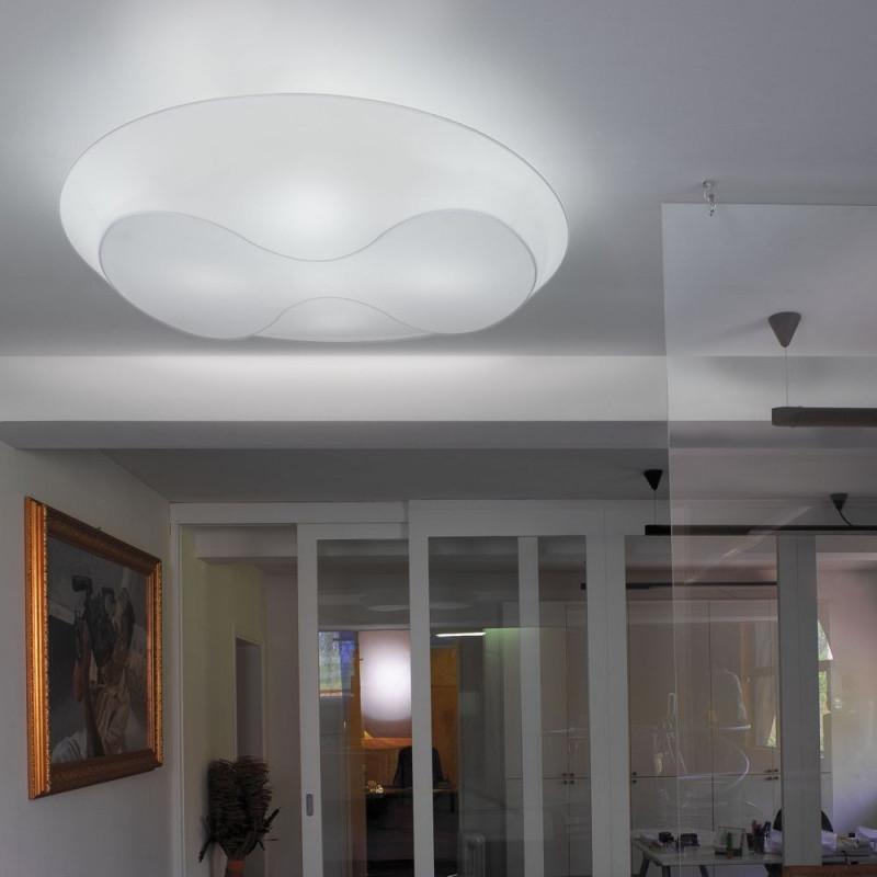 Eight 1000 Sehr Große Flache Deckenleuchte  Design von Deckenlampe Für Großes Wohnzimmer Bild