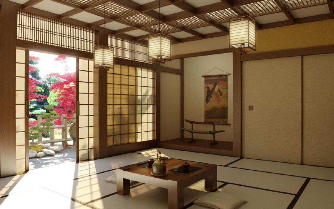 Ein Japanisches Wohnzimmer Strahlt Ruhe Und Edle von Wohnzimmer Japanisch Einrichten Bild