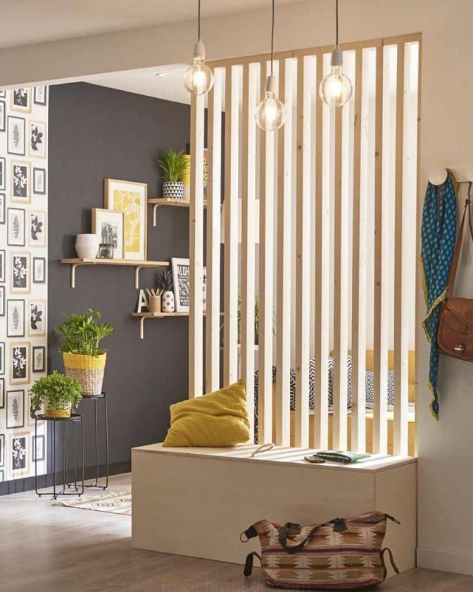 Eine Abnehmbare Diytrennwand Um Ihre Räume Zu Trennen In von Moderne Trennwände Wohnzimmer Photo