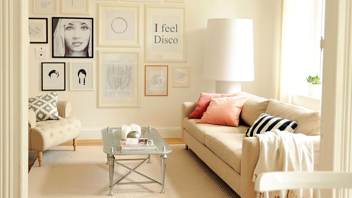 Eine Bilderwand Anlegen Die Besten Ideen Und Tipps von Fotowand Ideen Wohnzimmer Bild