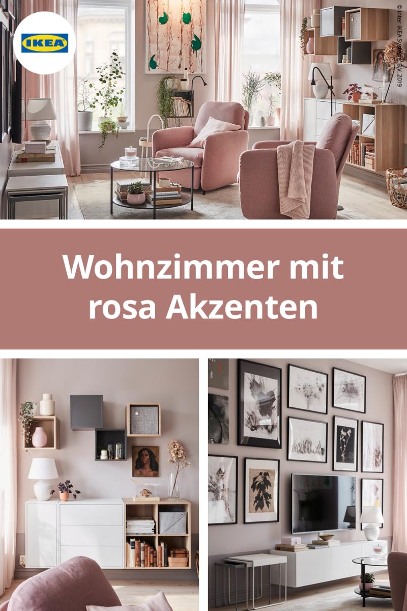 Einrichtungsidee Für Ein Wohnzimmer In Braunrosa von Wohnzimmer Ideen Rosa Bild