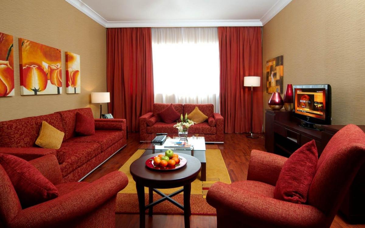Elegante Rote Wohnzimmer Deko Ideen  Die Farbe Rot Ist Eine von Rote Deko Wohnzimmer Bild