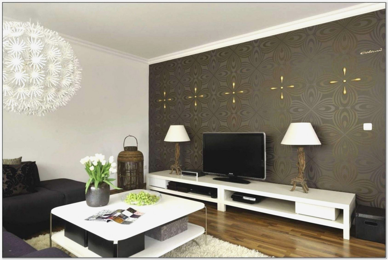 Elegante Wohnzimmer Tapeten Ideen – Caseconrad von Tapeten Ideen Wohnzimmer Bild