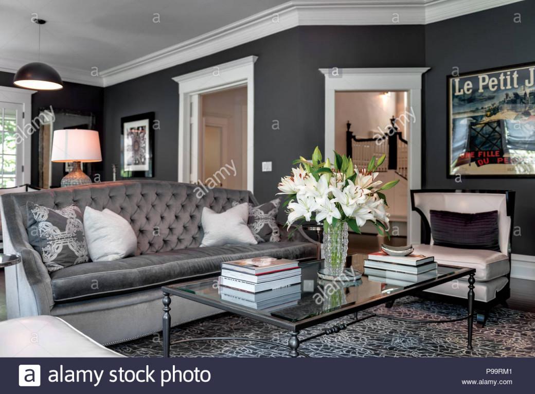 Elegantes Wohnzimmer Stockfotografie  Alamy von Elegante Bilder Für Wohnzimmer Bild