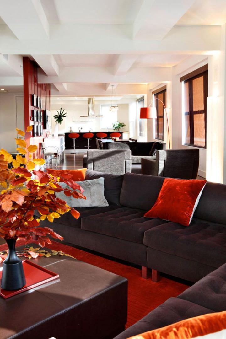 Es Ist Herbst Wohnzimmer Fallen Dekorideen  Rote von Rote Deko Wohnzimmer Photo