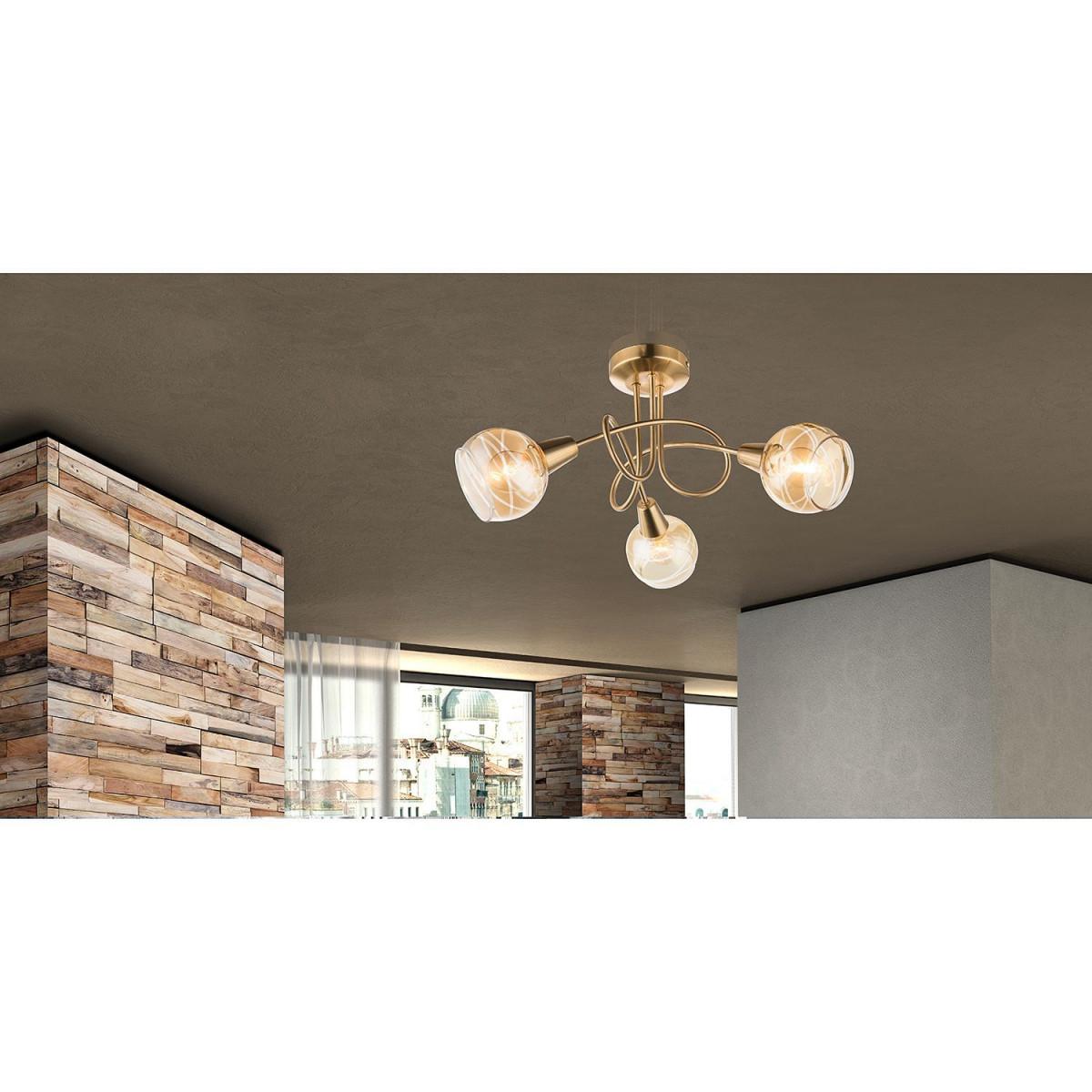 Esszimmer Lampe Industrie Look  Wohnzimmerlampen Messing von Deckenlampe Wohnzimmer Industrie Bild