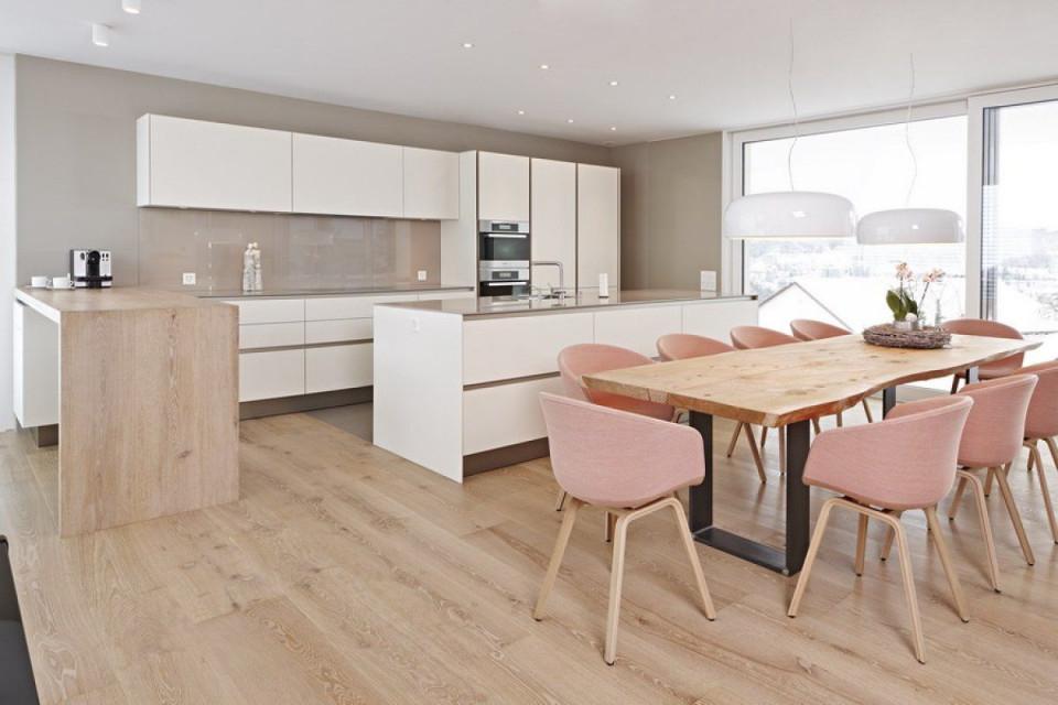 Esszimmerküche  Offene Wohnküche Wohnküche Wohn Esszimmer von Wohnzimmer Und Esszimmer Ideen Bild