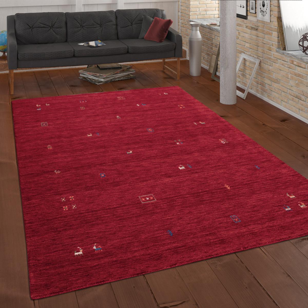 Ethno Teppich Wohnzimmer Wolle Handgewebt Gabbeh von Teppich Wohnzimmer Wolle Photo