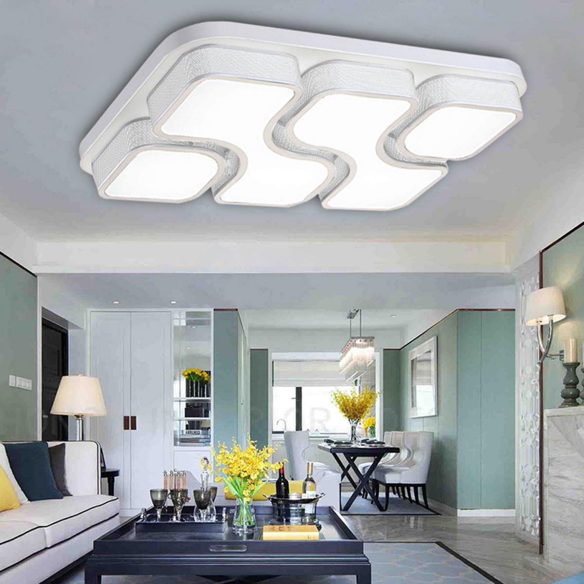 Etime 64W Design Led Deckenlampe Deckenleuchte von Wohnzimmer Lampe Weiß Photo