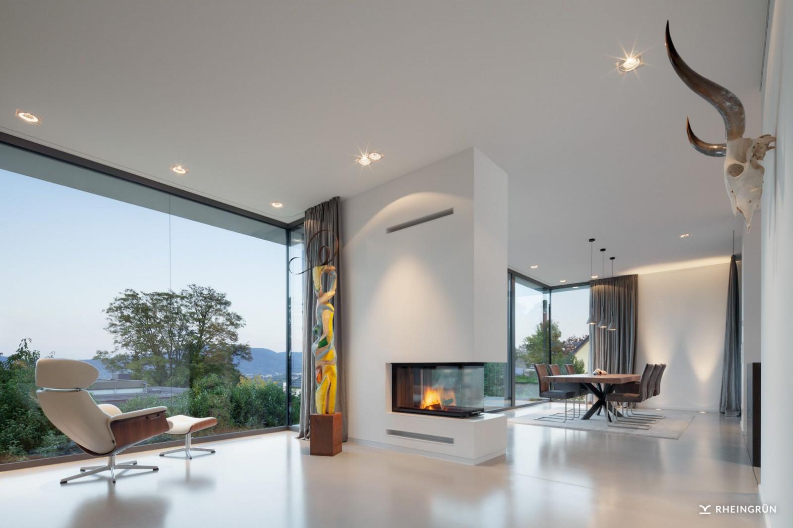 Exklusive Villa Mit Modernen Wasserbecken Aus Cortenstahl von Exklusive Bilder Für Wohnzimmer Bild