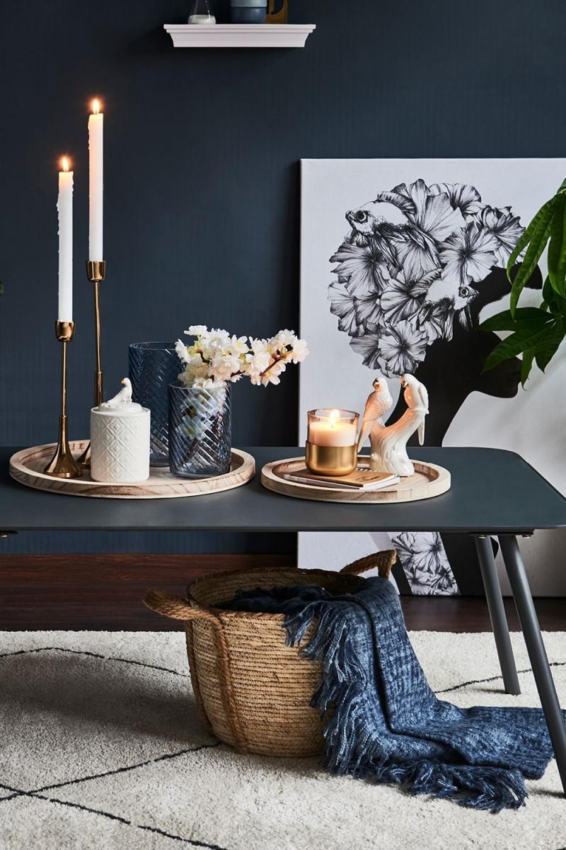 💙 Exotisch Papagei Blauedekoration Tischdeko Wohnideen von Wohnzimmer Deko Ideen Gold Bild
