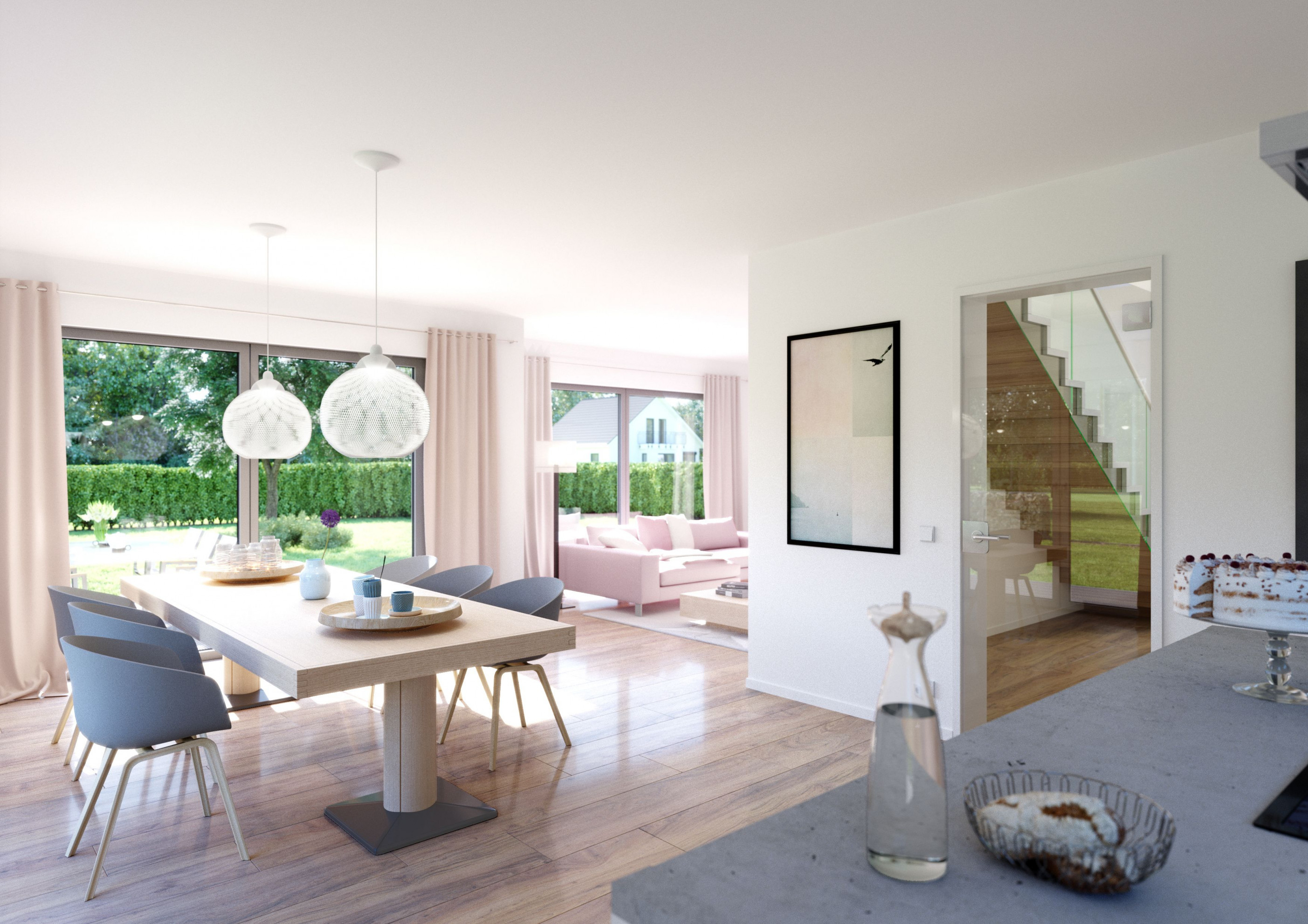 Familienhaus Vero  Satteldach Mit Flacher Dachneigung von Offenes Wohnzimmer Einrichten Bild