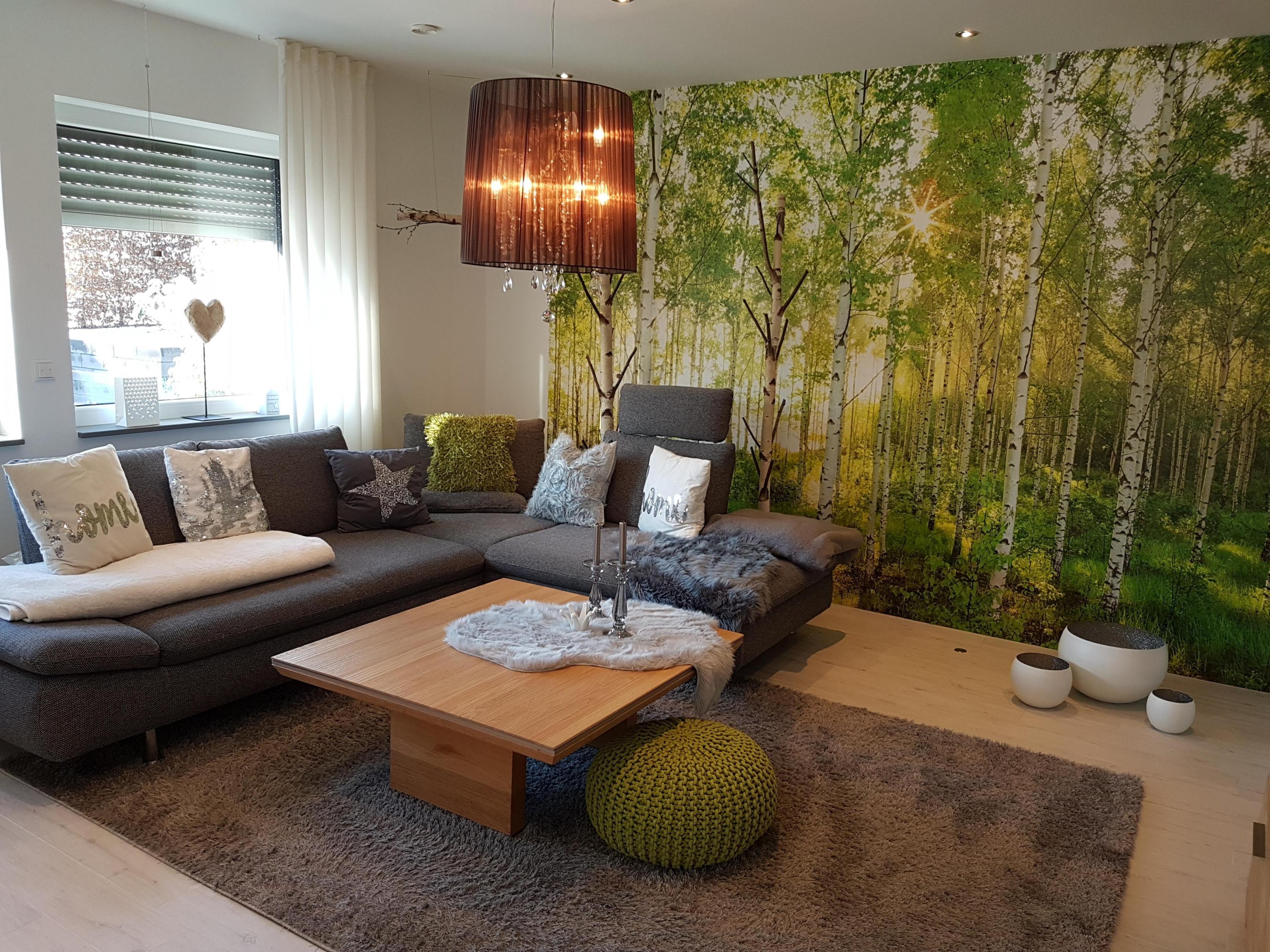 Farben Im Wohnzimmer So Wird's Gemütlich von Wohnzimmer Grau Grün Deko Bild