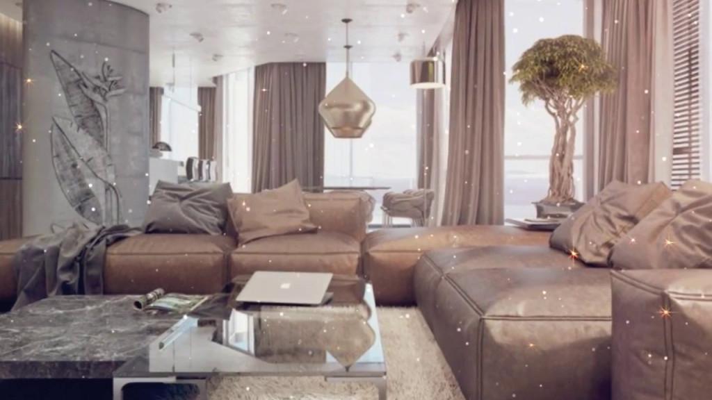 Farbkombination Grau Braun Weiß Im Wohnzimmer – Stilvolle  Einrichtungsbeispiele In Bildern von Wohnzimmer Braun Grau Gestalten Bild
