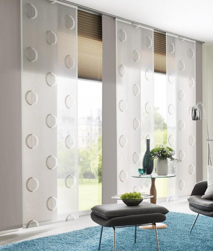 Fenster Nivina I Gardinen Dekostoffe Vorhang Wohnstoffe von Gardinen Rollos Wohnzimmer Bild