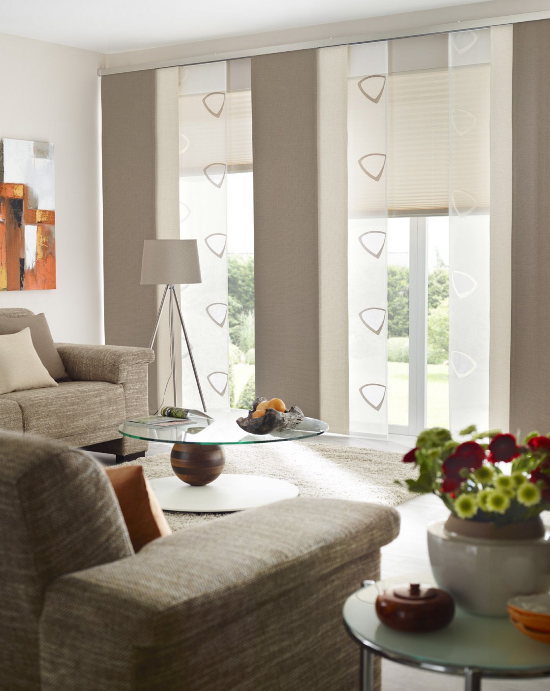 Fenster Urbansteel Gardinen Dekostoffe Vorhang von Gardinen Wohnzimmer Ideen Bild