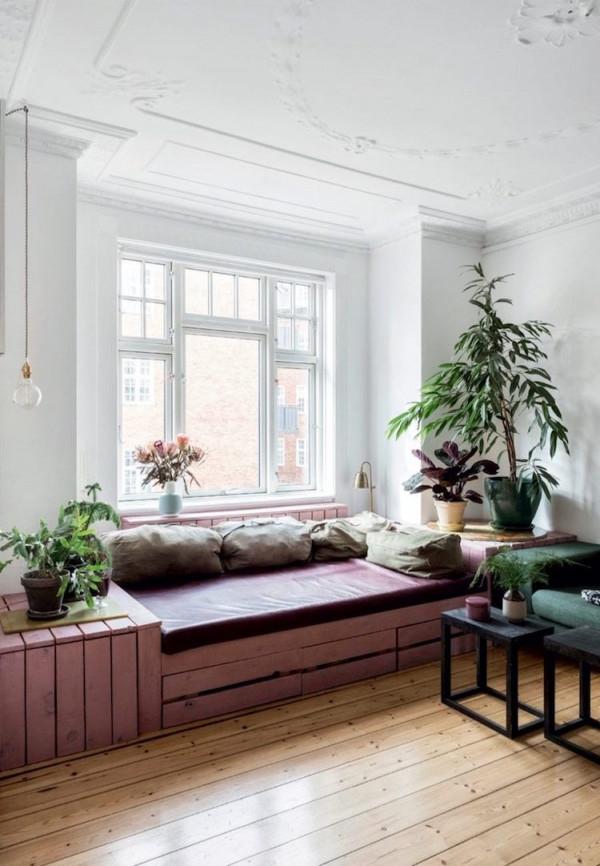 Fensterbank Zum Sitzen Modern Gestalten  20 Designideen von Fensterbank Gestalten Wohnzimmer Bild